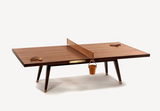 Wood Ping Pong Table by Etel